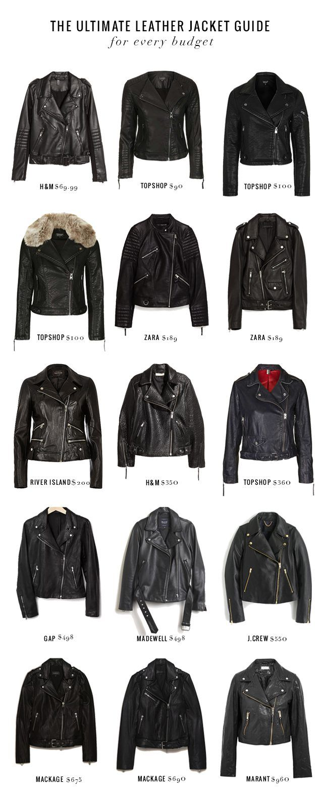 15 Leather Jackets at Every Price Point | eHow