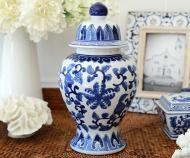 Clifton Blue & White Temple Jar