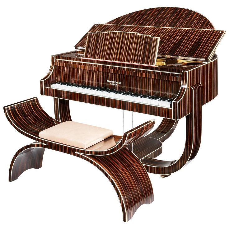 Art Deco 'Boudoir' Grand Piano by Strohmenger, 1938 | From a unique collection of antique and modern musical instruments at https://www.1stdibs.com/furniture/more-furniture-collectibles/musical-instruments/