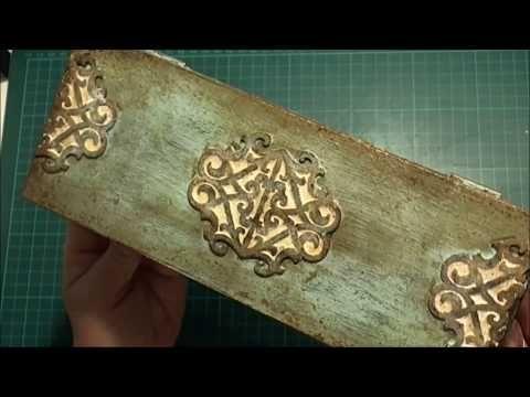 Teafilteres doboz visszamosható festékkel és 3D dekorációval - 2. rész - YouTube