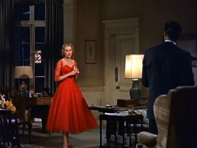 Grace Kelly Dial M for Murder Red Dress. Every other outfit and more pictures on the site connected.