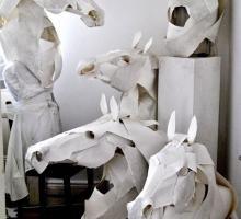 Esculturas de Animais Feitas de Papel