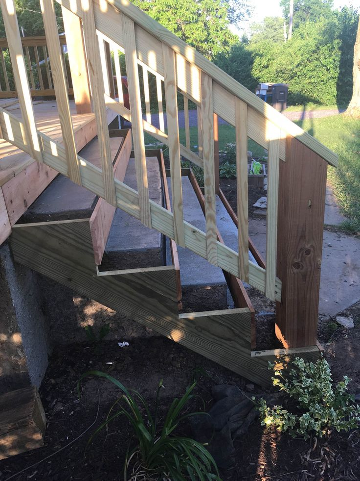 Best How To Cover Concrete Steps With Wood Front Porch Makeover 400 x 300