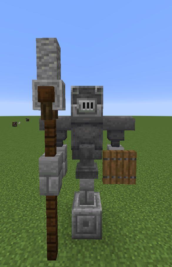Minecraft Statue Idea You Can Use Blast Furnaces As