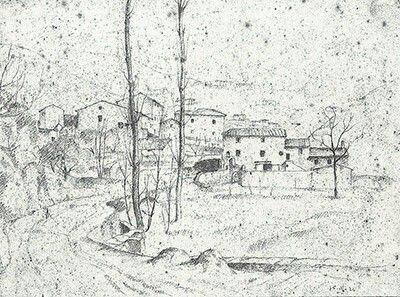Paesaggio con case 1924