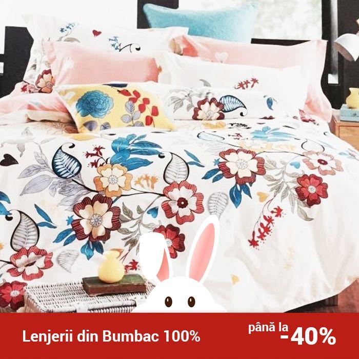 Lenjerie de pat din bumbac Valentini Bianco TB010/49