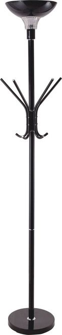 Furniture of America Liv Collection Black Floor Lamp with Coat Rack L73038BK