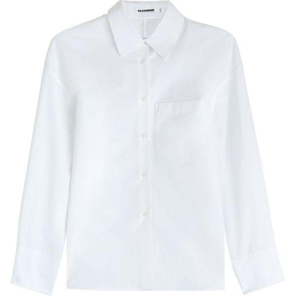 Jil Sander Thiara Cotton Blouse (14.925 RUB) ❤ liked on Polyvore