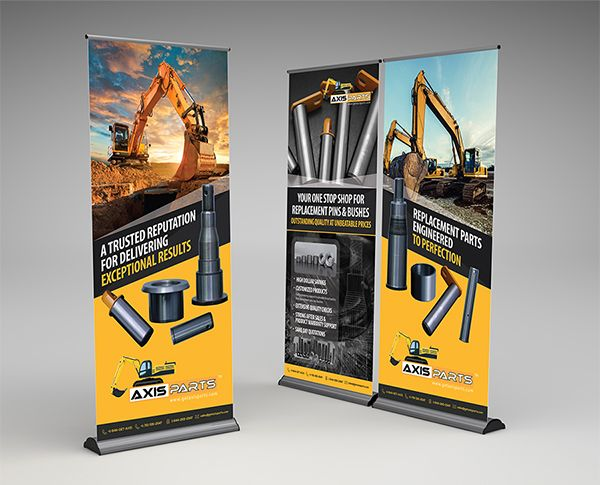 Get Axis Parts pull up banner design on Behance