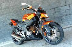 Modifikasi Honda Tiger streetfighter warna orange kekar dan gagah