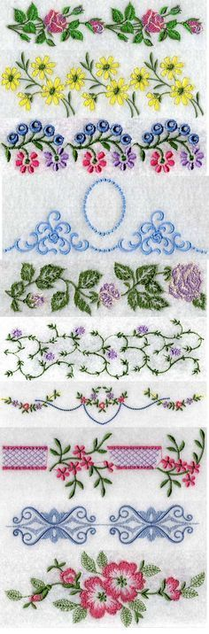 Linens 3 Embroidery Machine Design Details designs by Sick