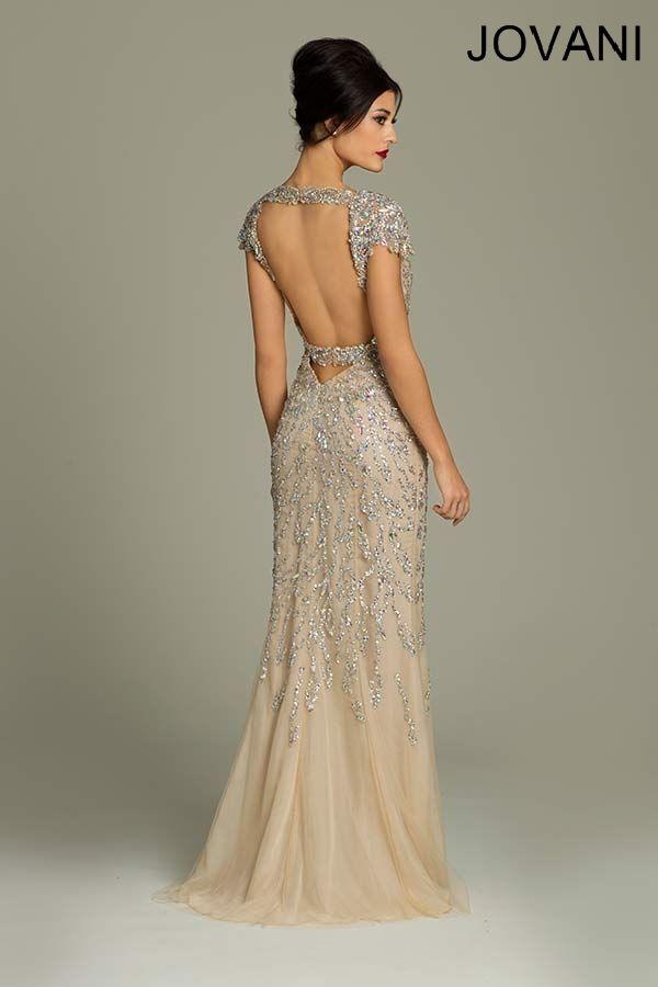 Jovani 88583 // art deco great gatsby wedding dress