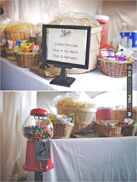 Wedding Snack Table Via Weddingpins Net