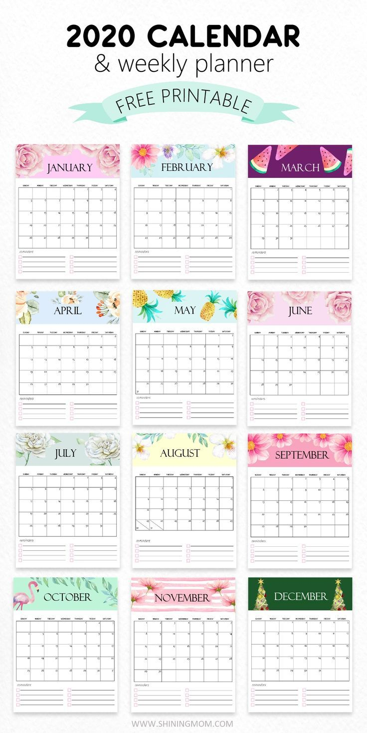 Weekly Schedule Print Out