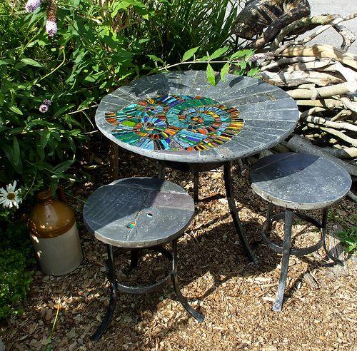 Garden Furniture Mosaic 34 best quirky garden furniture images on pinterest | garden