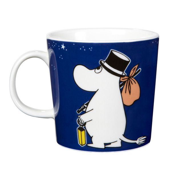 The new 2014 Moominpappa mug features illustrations by Tove Slotte-Elevant and it shows the adventurous Moominpappa sailing. It is set to be released together with the new Moominmamma mug and they go really well together.