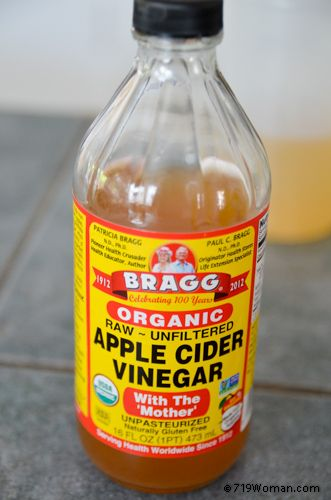 how to clean toilet with apple cider vinegar