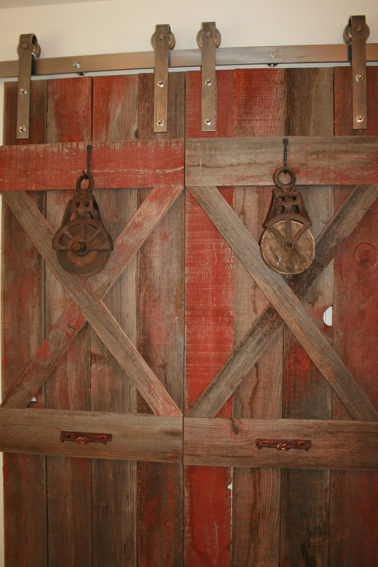 A great idea for using old barn wood inside your home!