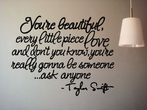 Stay Beautiful - Taylor Swift, bedroom wall decoration