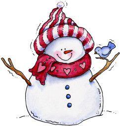 Muñeco de nieve bufanda y gorro
