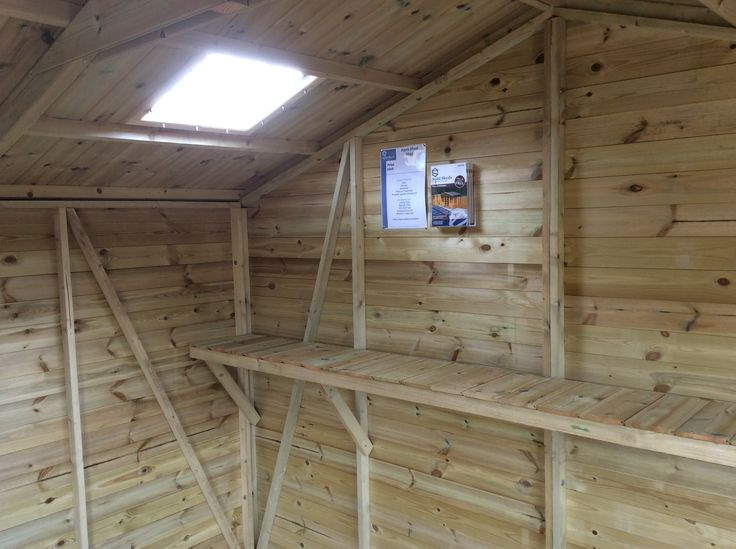 Skylights and shelving available from Solid Sheds