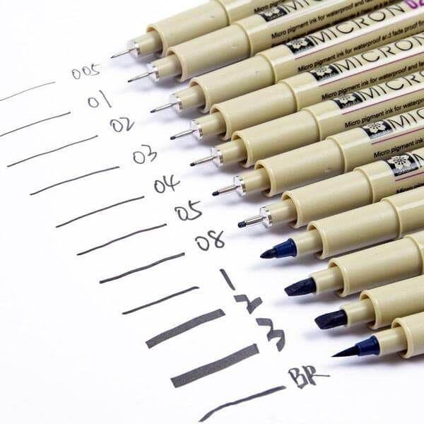 Pilot Drawing pens 0.2mm  Black  x 3 pcs