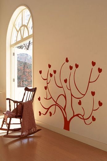 Heart Tree Wall Decals for Living Room