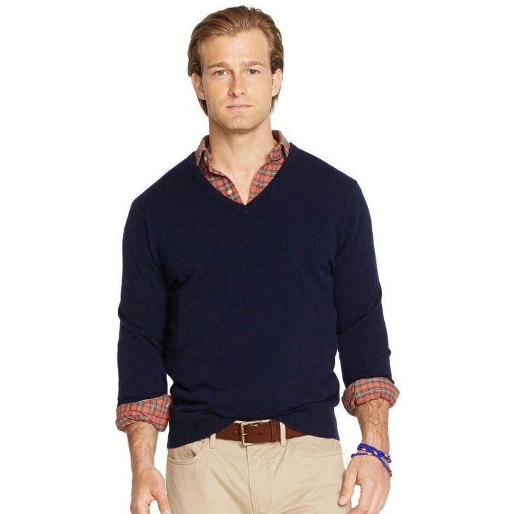 Marin v-tröja från Ralph Lauren