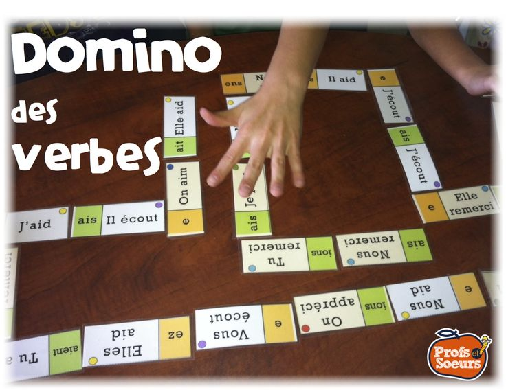Jeu de mots pour les verbes: DOMINO // Word Work in French