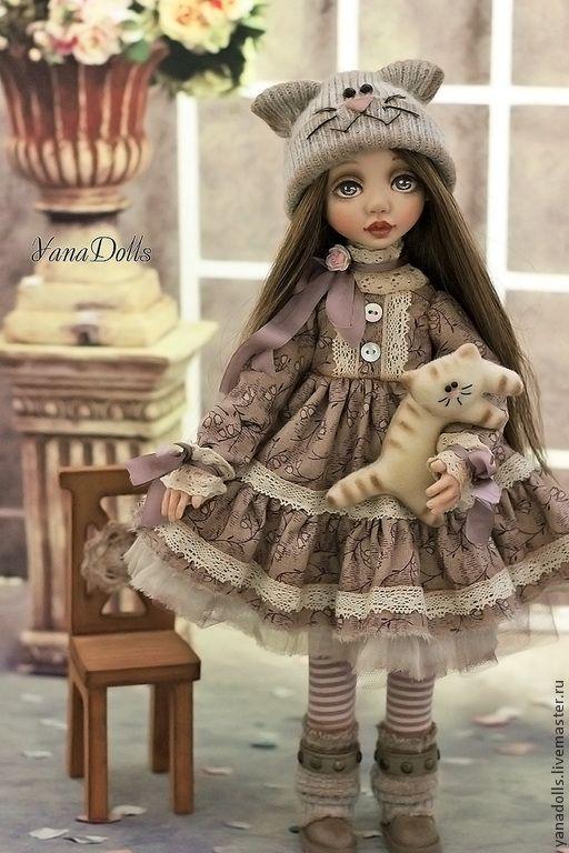 Купить Сонечка - бледно-сиреневый, кукла, кукла ручной работы, смешанная техника