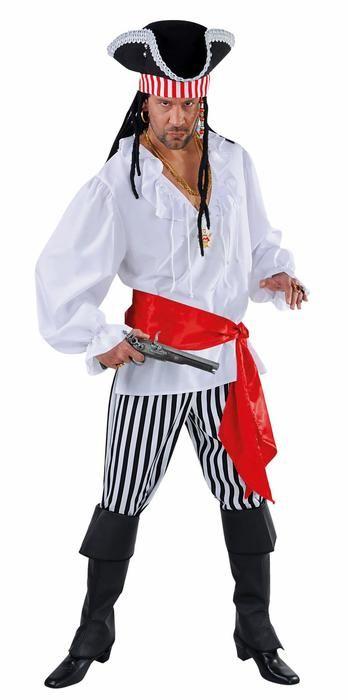 Piraat kostuum man met gestreepte broek - Las Fiestas