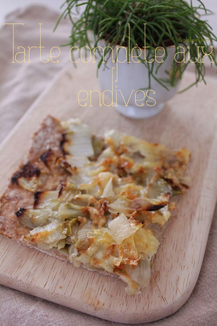 Jolie recette : tarte complète aux endives | Birds Love Cherry Factory
