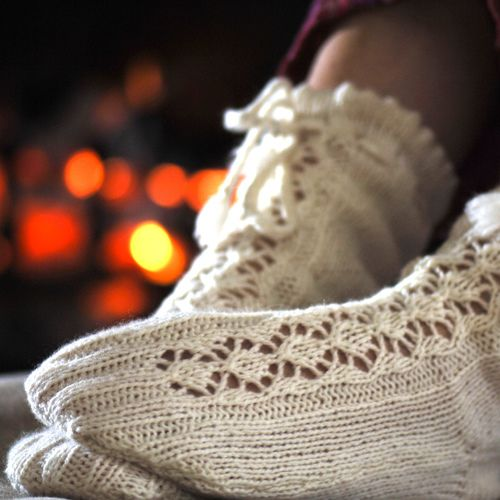Ravelry: Cashmere Lace Bed Socks pattern by Sian Brown