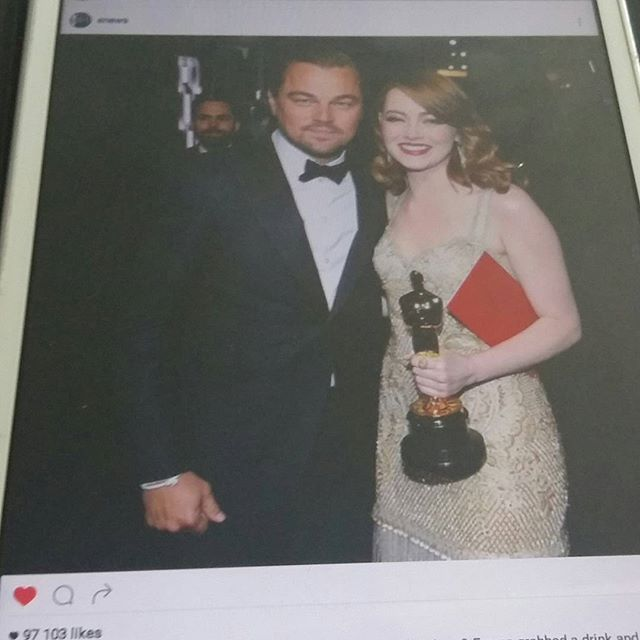 OSCAR NEWS...NOMINTED&VINNERS Last Year OSCAR Vinner Leonardo de Caprio, This year 2017 VINNER Emma Stone, La la land movie.  CONCURLATIONS&RECPECT.  #oscars2017 #oscar #moviestar #vinner #movieworld #news🌍📰🔝📷📚👀🎭💡☺😉❤🙋