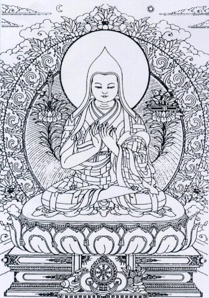 line art budda | Buddha Line Art Drawing Buddhist - kootation.com