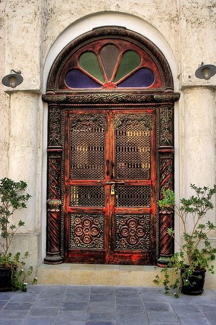 Saw a door just like this today.... DOHA, QATAR   ..rh