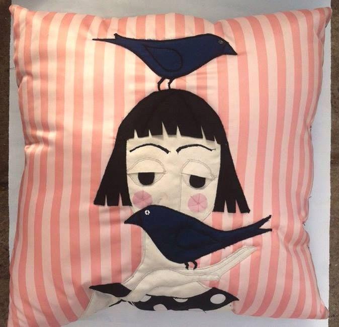 hand made applique cushions