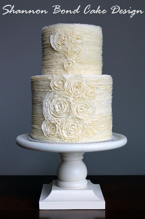 Romantic Buttercream Ruffle Wedding Cake - Cake by Shannon Bond Cake Design