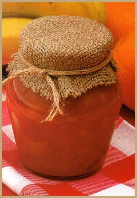 Mermelada de naranjas con bananas