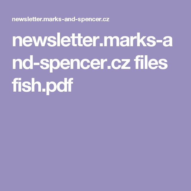newsletter.marks-and-spencer.cz files fish.pdf