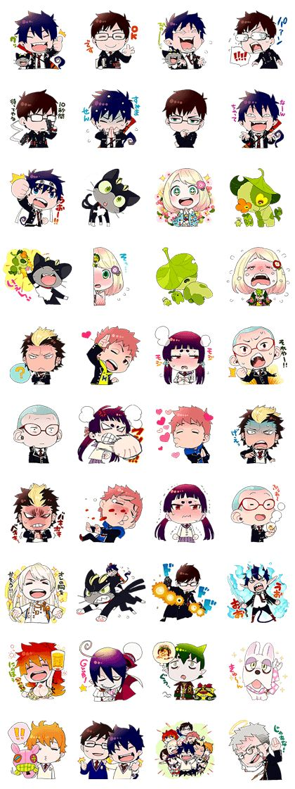 The many expressions of different characters :) | Ao no Exorcist chibis
