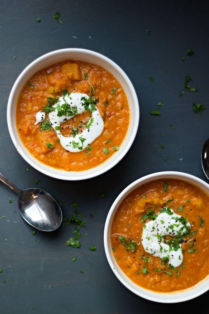 Dahlsoep met wortel en aardappel