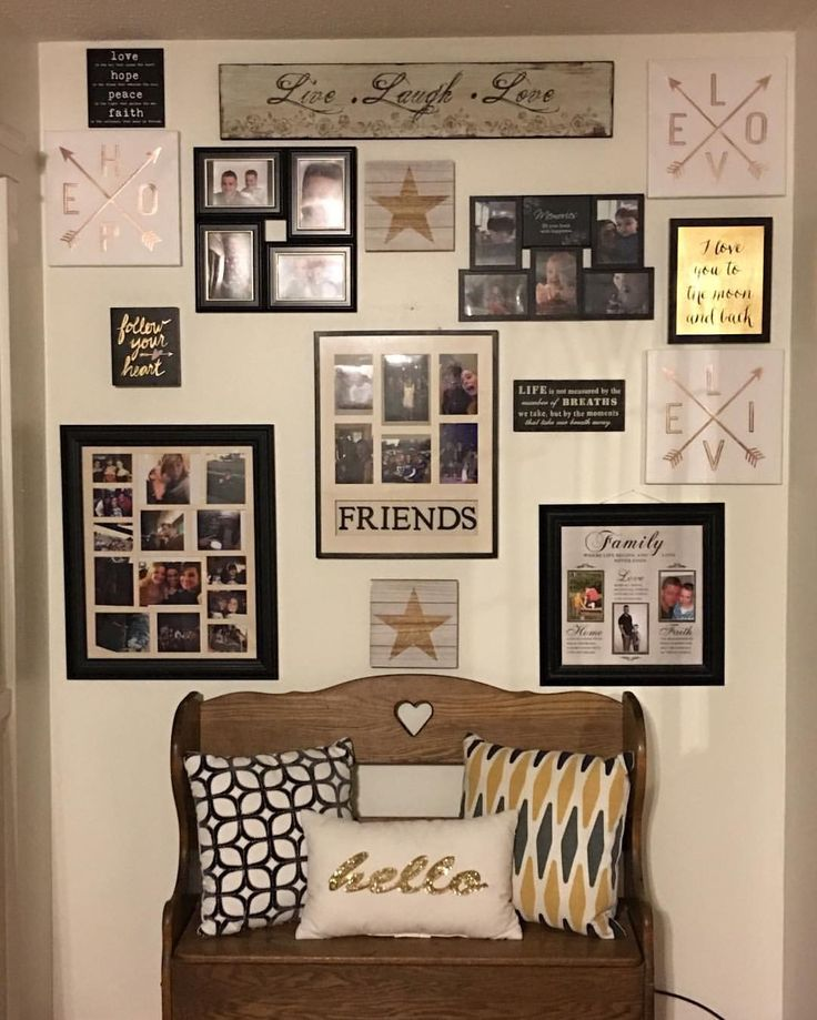 I love when a plan comes together.  My hallway/picture wall from our front porch is finally complete