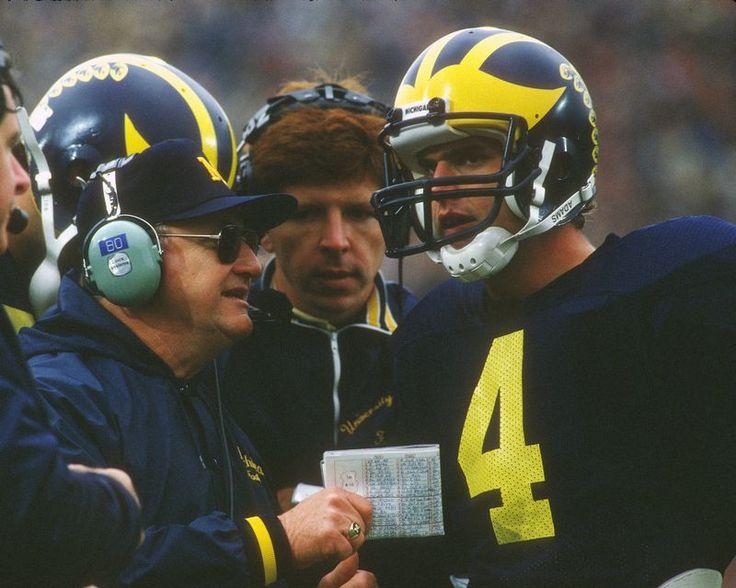 Jim Harbaugh & Bo Schembechler Michigan Wolverines Photo (Choose Size)