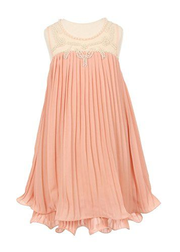 f092146e5c7 Cinderella Couture Girls Pearl Beaded Wire Hem Pleated Special Occasion  Dress 8-14