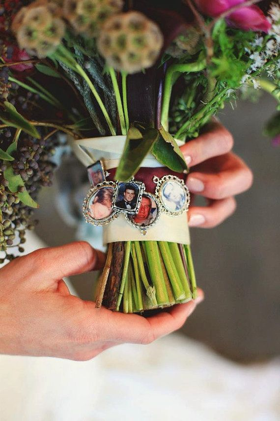 5 Kits to make Wedding Bouquet charms  -Photo Pendants charms for family photo (includes everything you need including instructions)