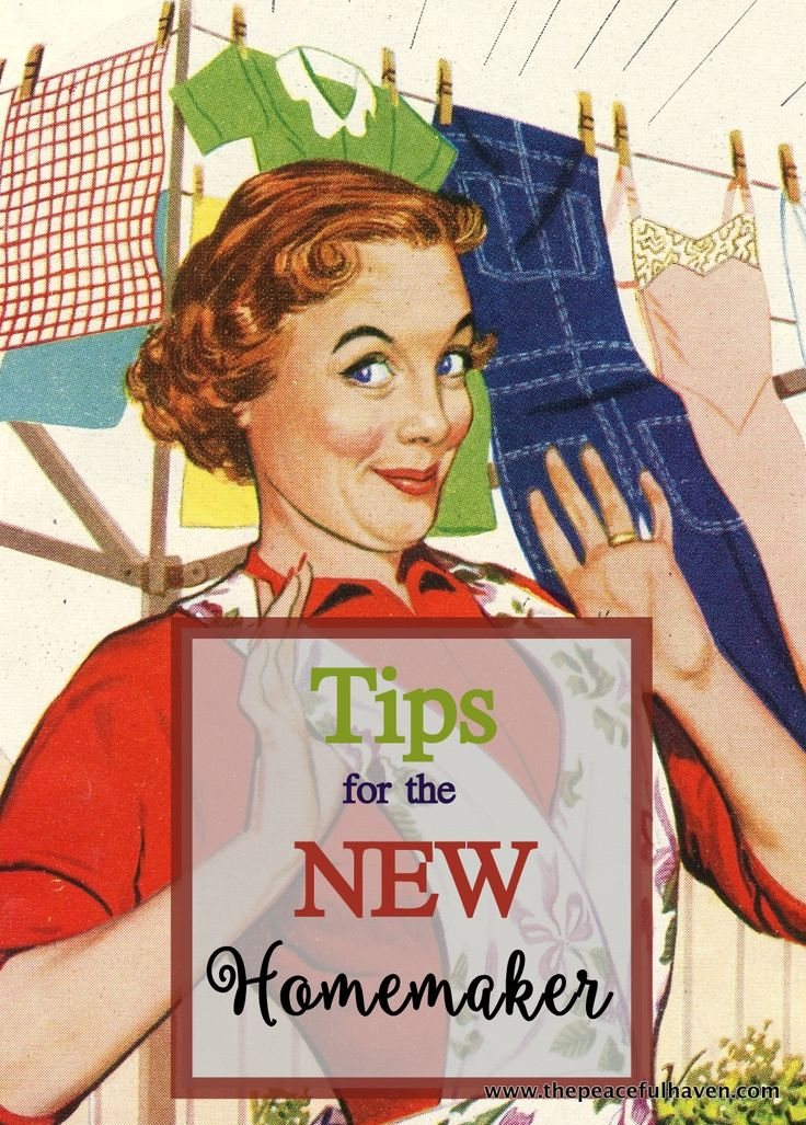 Homemaking help for the new homemaker and refreshment for the old ones!