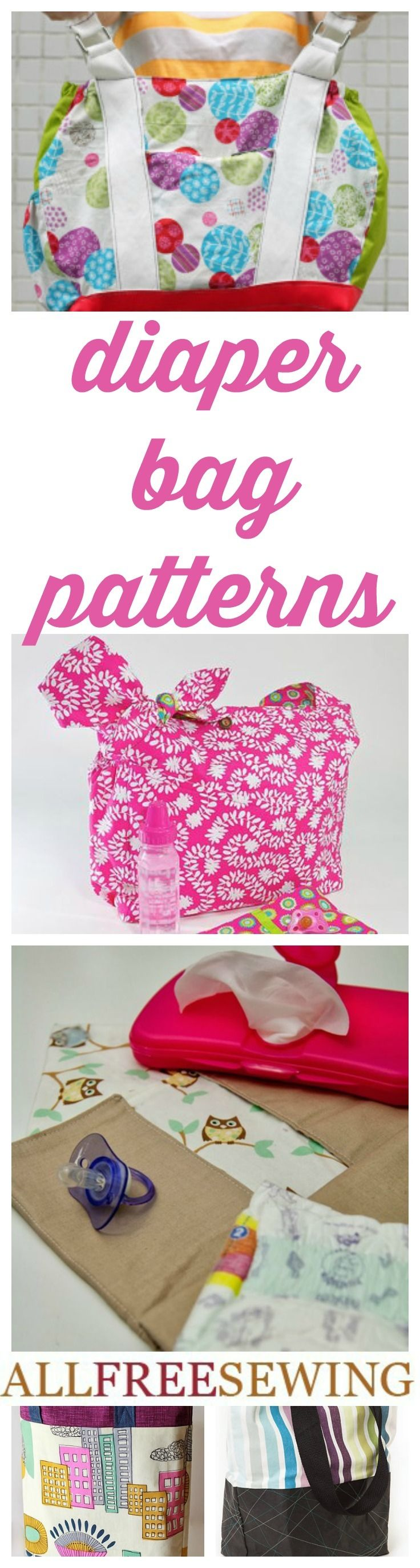 26 Diaper Bag Patterns and DIY Changing Pad Ideas | AllFreeSewing.com