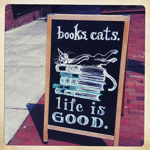 books. cats. life is good.