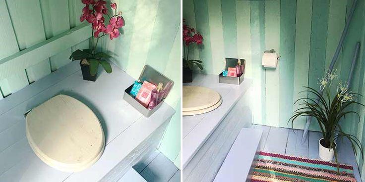 Vanha mökkihuussi maalattiin ja sisustettiin raikkaaksi Beach House -tyyliseksi. Katso video sekä ennen ja jälkeen kuvat.